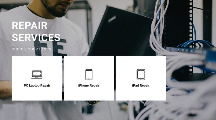 Repair of any equipment Web Page Design