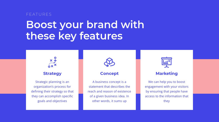 Creating your brand strategy HTML Template