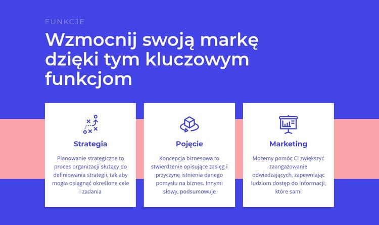 Tworzenie strategii marki Szablon witryny sieci Web