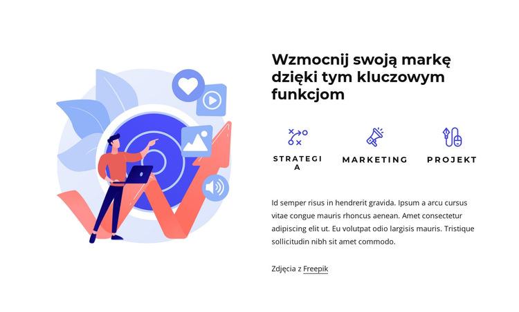 Projekt marki i doświadczenia Szablon witryny sieci Web