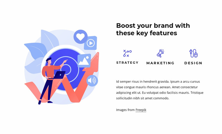 Brand and experience design Website Mockup