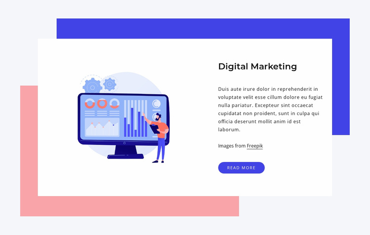 Let our experts bring success Website Template