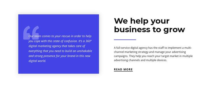 We help your business to grow WordPress Theme