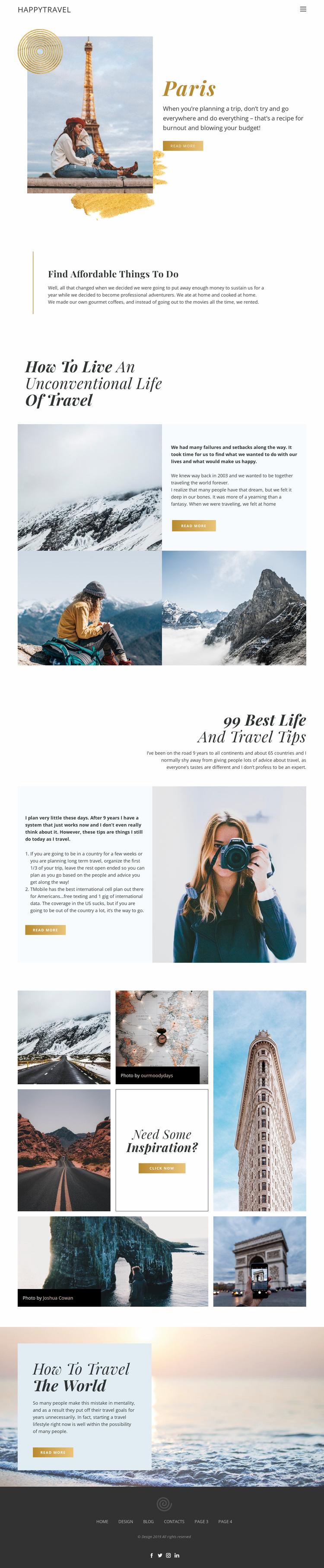 Travel Live Website Design