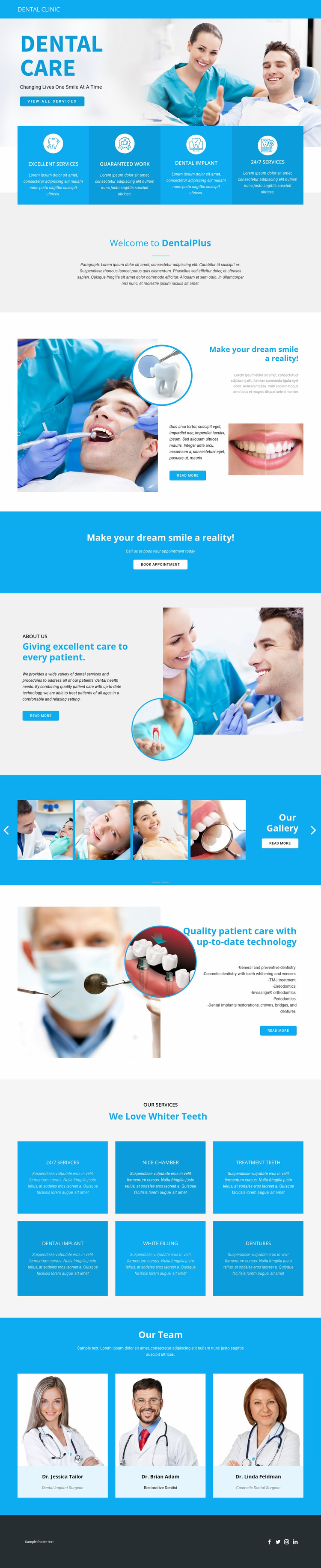 Dental care and medicine Web Page Designer