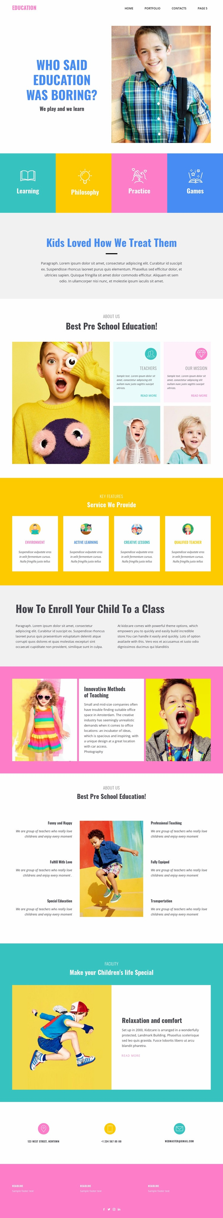 Fun of learning in school Html Code Example