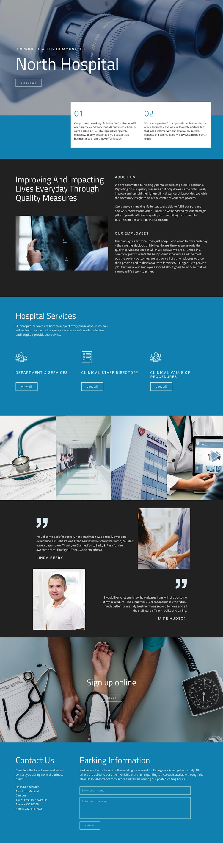 Impacting lives with medicine One Page Template