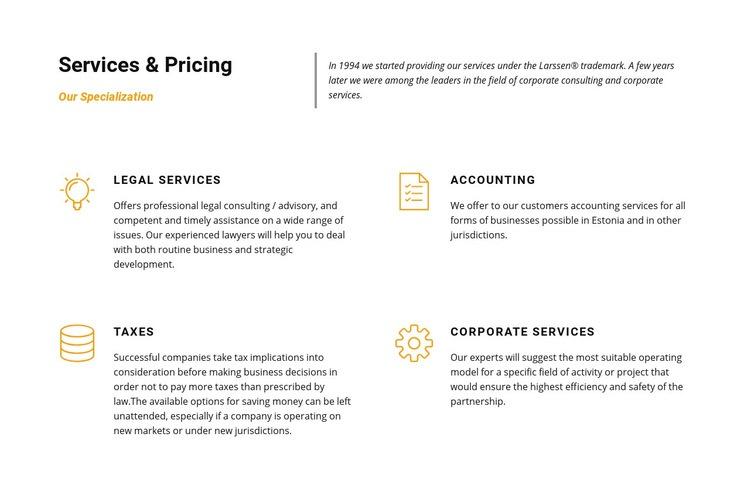 Law company Homepage Design