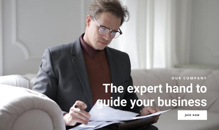 The expert hand HTML Template
