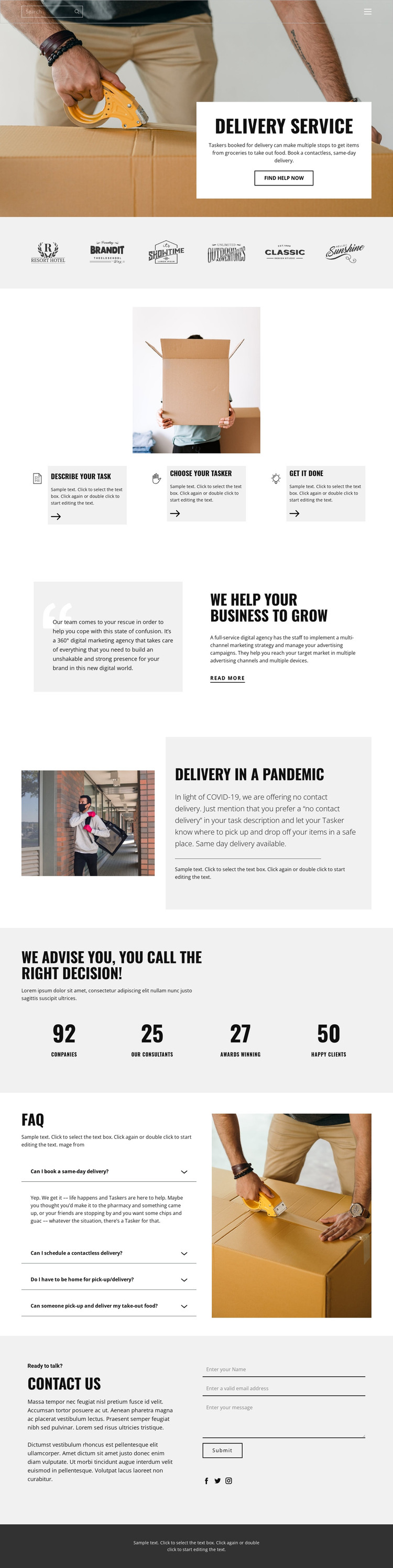 Fast and high quality delivery HTML Template