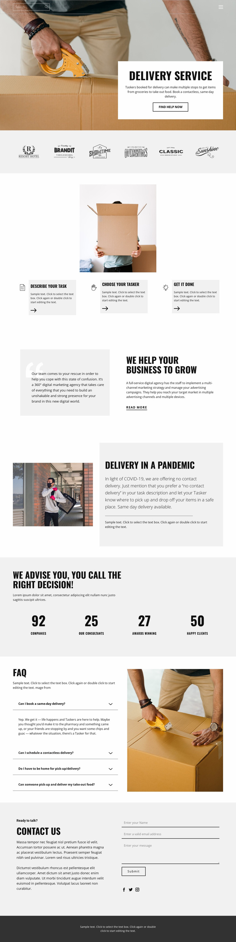 Fast and high quality delivery Website Mockup
