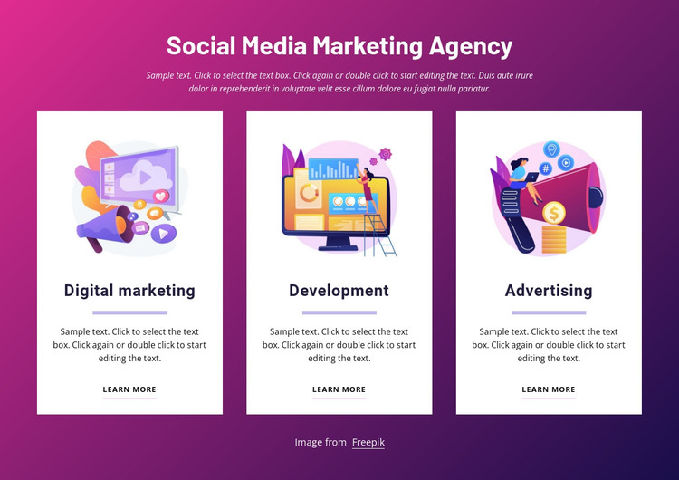 Social media marketing agency HTML Template