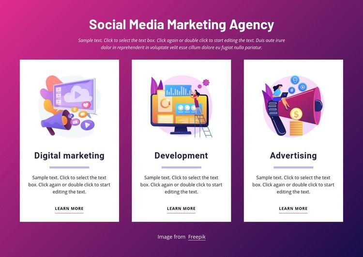Social media marketing agency Web Page Design