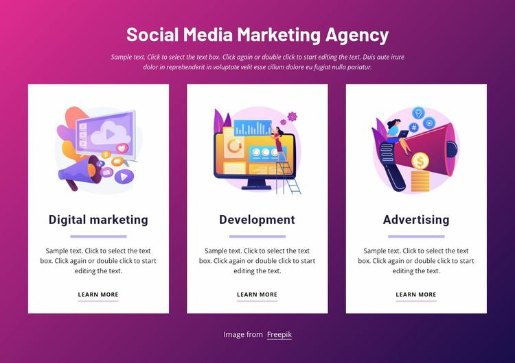 Social media marketing agency Website Template