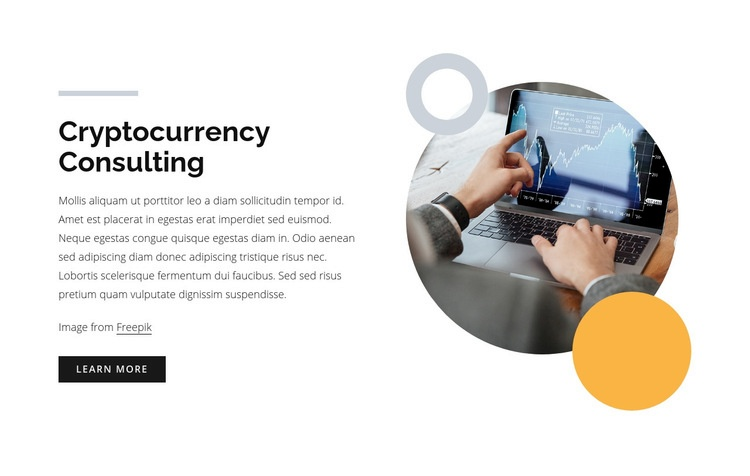 Cryptocurrency consulting Web Page Design