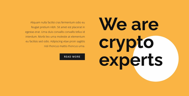 Cryptocurrency consulting text Website Mockup