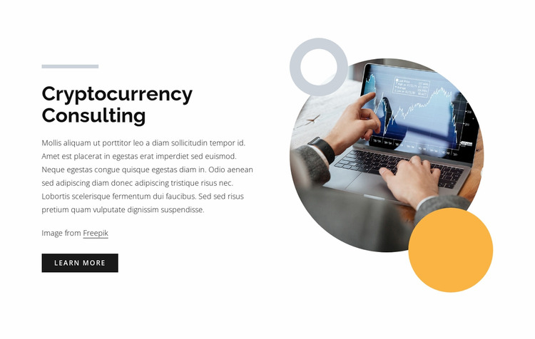 Cryptocurrency consulting WordPress Website Builder