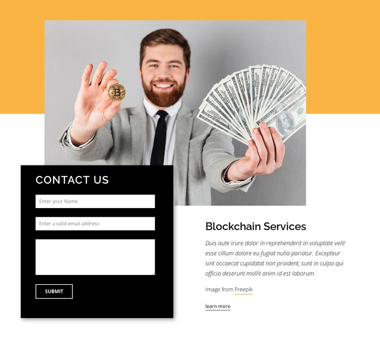 Crypto consultant Homepage Design