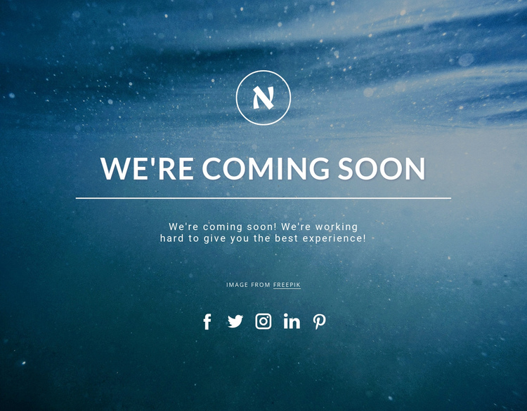 We are coming soon One Page Template