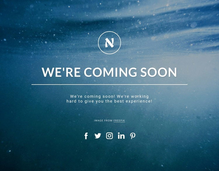 We are coming soon Web Page Design