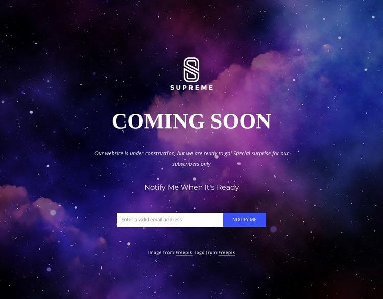 Website is coming soon Web Page Designer