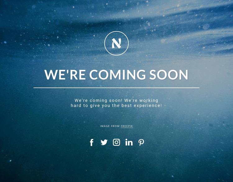 We are coming soon Website Mockup