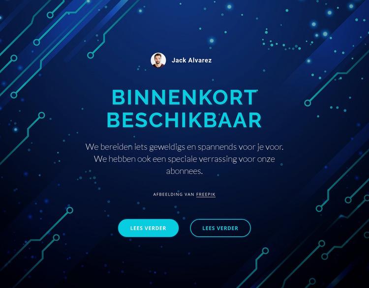 Binnenkort beschikbaar Website sjabloon