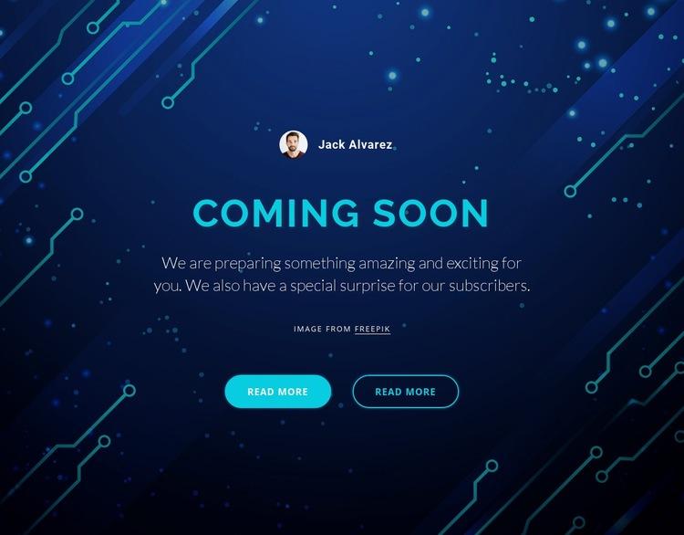 Coming soon Web Page Designer