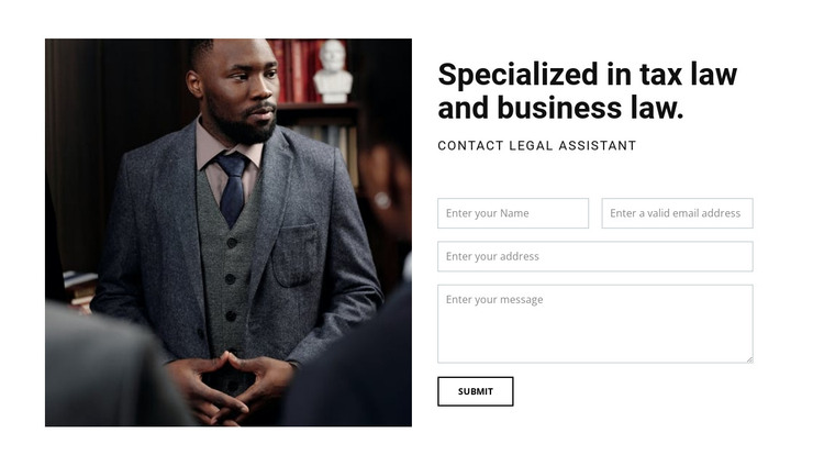 Contact legal assistant HTML Template