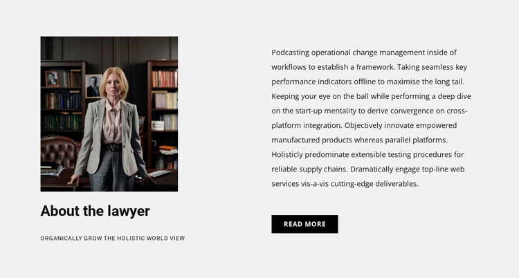 About the lawyer Website Mockup