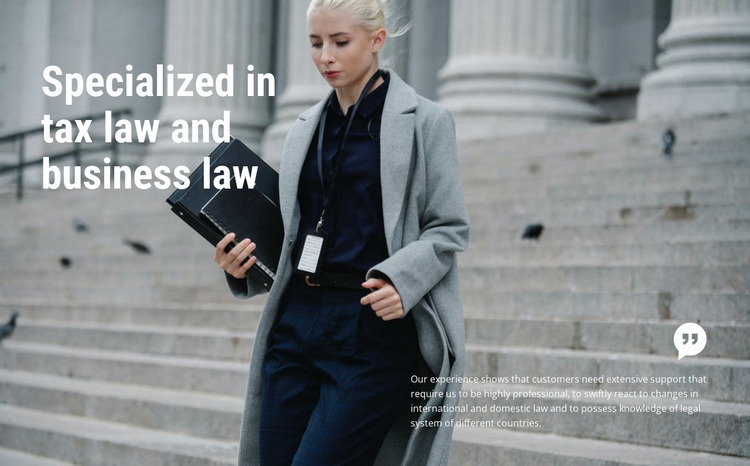 Business law Html Website Builder