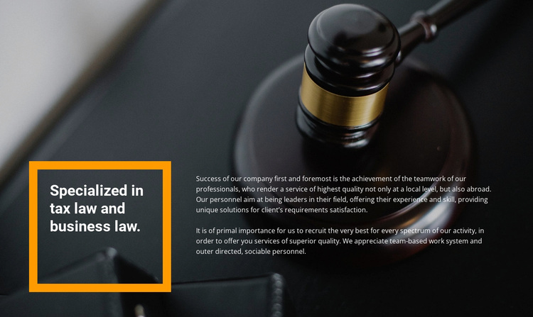 Lawyer assistance Joomla Page Builder