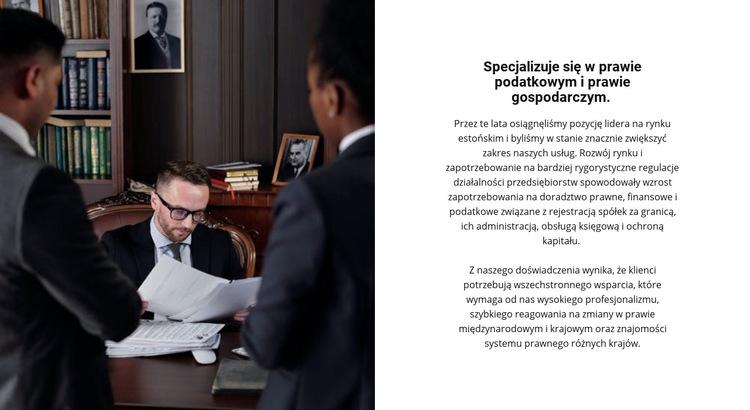 Praktyka prawnicza Szablon witryny sieci Web