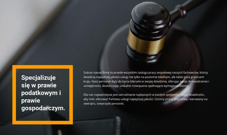 Pomoc prawnika Szablon witryny sieci Web