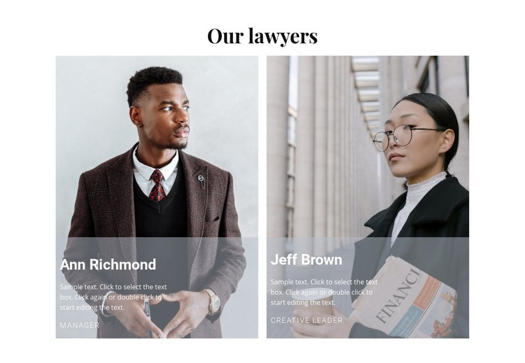 Our best lawyers Web Page Design