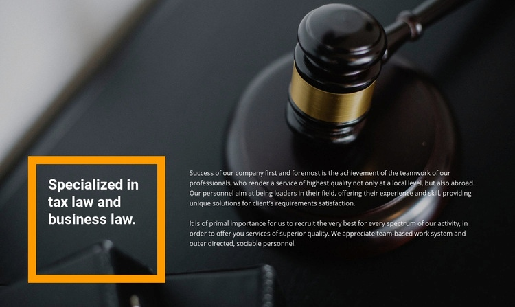 Lawyer assistance Web Page Design