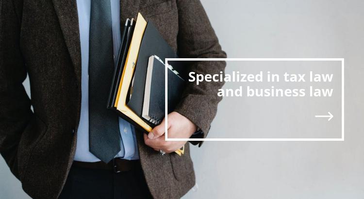 Tax law Website Design