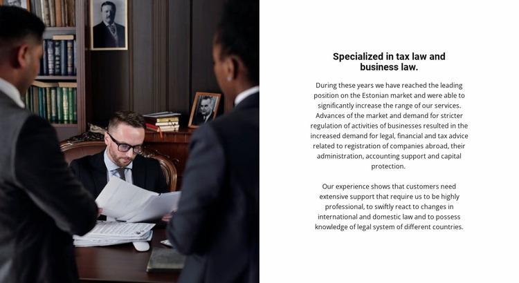 Law practice Website Mockup