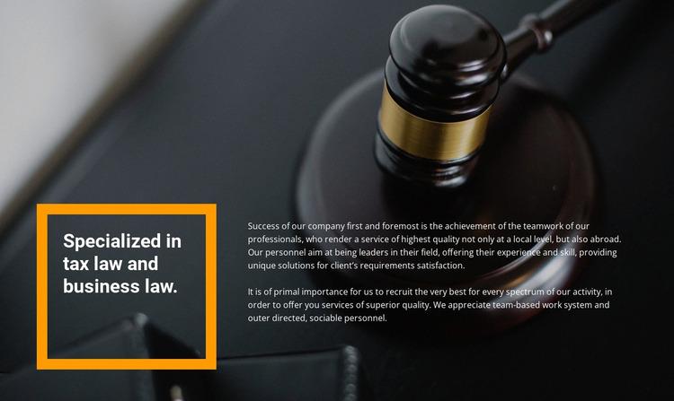 Lawyer assistance Website Mockup