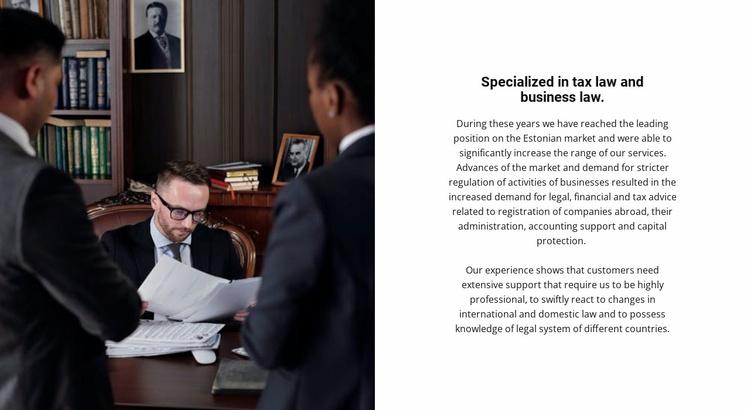 Law practice Website Template