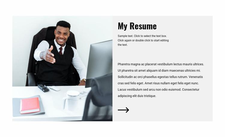 Lawyer CV Website Template