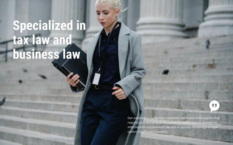 Business law WordPress Theme