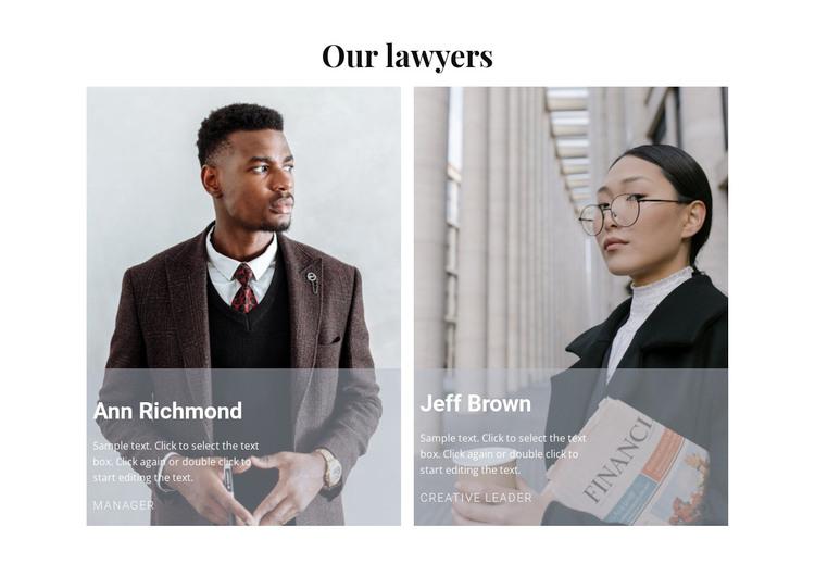 Our best lawyers WordPress Theme