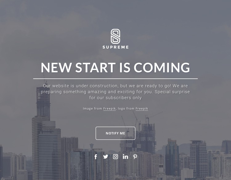 Coming soon design CSS Template