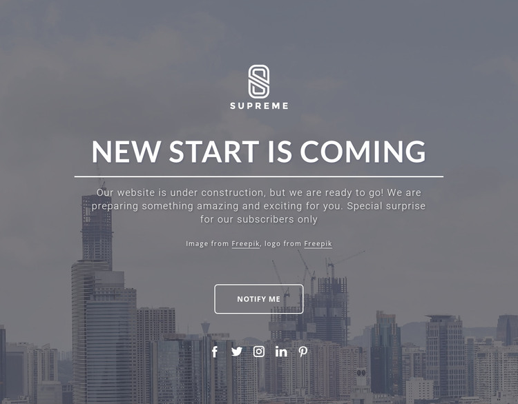 Coming soon design HTML Template