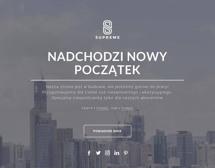 Wkrótce projekt Szablon witryny sieci Web