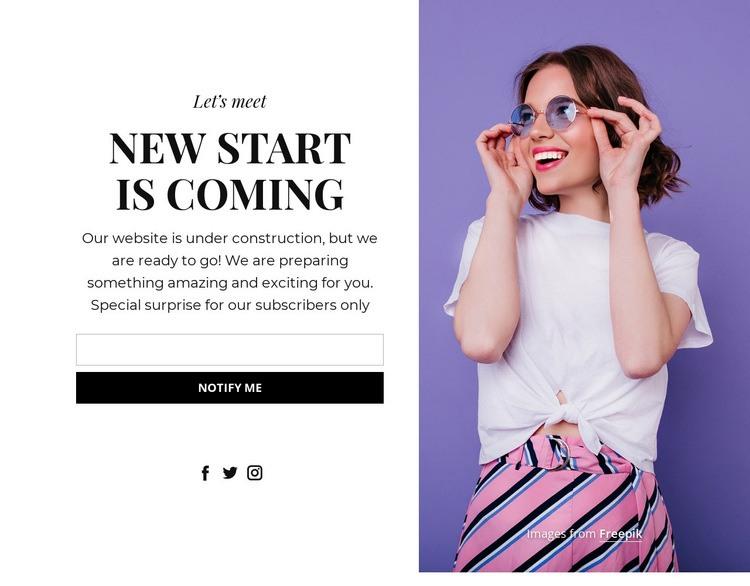 Perfect coming soon block Website Creator