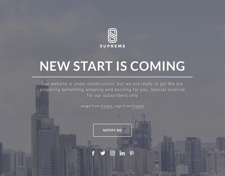 Coming soon design Website Design