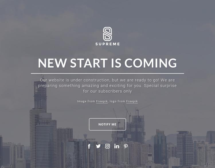 Coming soon design WordPress Website Builder