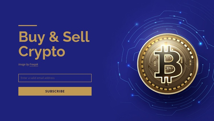Buy and sell crypto Web Page Design